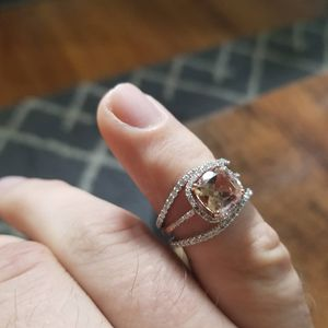 Engagement and Wedding ring set 1 morganite diamond, 2 diamond wedding bands. Want at least price listed but will take best offer for Sale in Nashville, TN