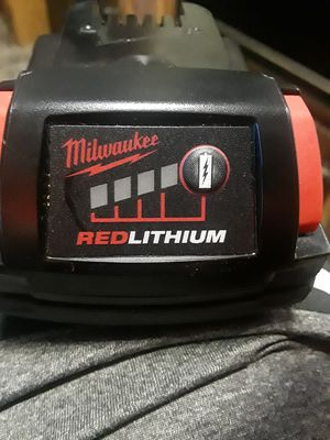 Milwaukee 18 volt RED LITHIUM battery for Sale in Summersville, WV