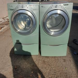 Washer and Dryer Whirlpool Electric Dryer Good Condition 3 Months warranty Delivery And Install for Sale in San Leandro, CA