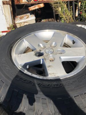 Jeep Wrangler wheels and tires set of 5 for Sale in East Haven, CT