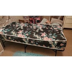 Twin Metal Platform Bed With Mattress for Sale in Knightdale,  NC