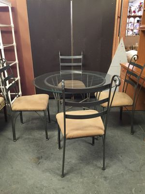 Glass table and 4 chairs for Sale in Sebring, FL