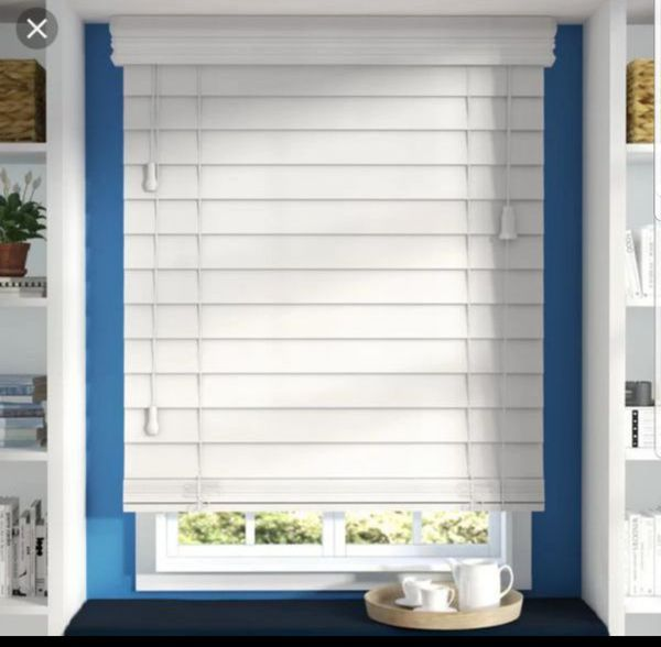 2 Quot Faux Wood White Slat Window Blinds Covering For Sale In