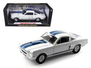1966 Ford Shelby Mustang GT 350 White with Blue Stripes 1/18 Diecast Car Model by Shelby Collectibles for Sale, used for sale  Dover, NJ