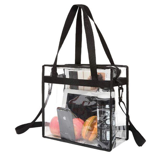 NEW Women Transparent Handbag Purse Safe NFL PGA Clear Tote Bag
