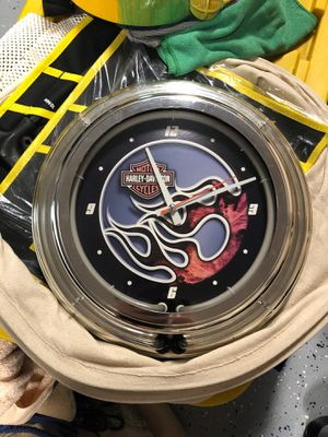 Harley Davidson Lighted Wall Clock for Sale in Canton, GA