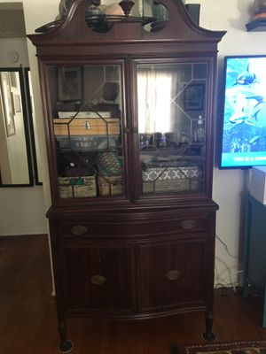 China cabinet. Antique, dovetail joints. for Sale in St. Pete Beach, FL