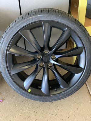 "Brand New Tesal model X 22"" in black carbon wheels & Tires for Sale in Phoenix, AZ"