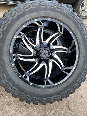 20x10 INCH DFD OFF-ROAD RIMS WITH 35x12.50R20 TIRES for Sale in Grand Prairie, TX