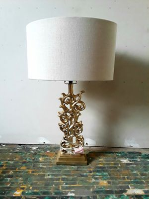 GOLD Bohemian Lamp w/Shade for Sale in Pittsburgh, PA