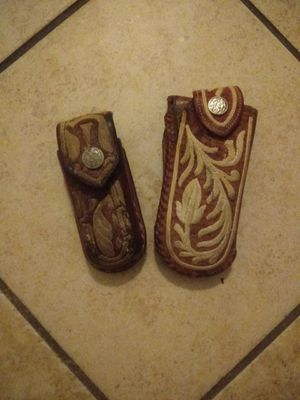 Pocket knife holders take both for 10 for Sale in Phillips Ranch, CA