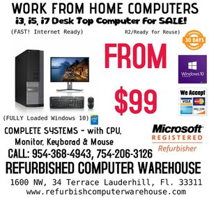 Work from Home Computers SALE!!! for Sale in Lauderhill, FL