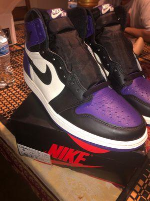 Jordan 1 court purple size 9 for Sale in Duluth, GA
