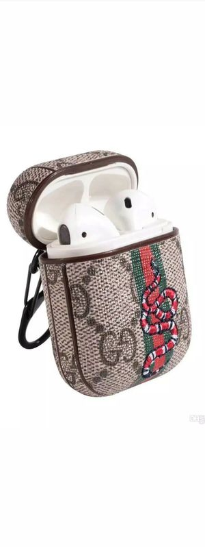 Luxury Leather Shockproof Cover Wireless Headphone Designer Fashion Fun Cool Sale Protective Design Skin Protect Apple Airpods Pro Cases Iphone Ipad for Sale in Kent, WA