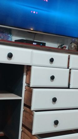 Beautiful White And Smoked Gray Stained Solid Wood Dresser! for Sale in Chino Hills,  CA