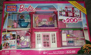 Mega Blocks Barbie Fab Mansion 222 pieces for Sale in Tacoma, WA