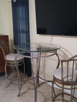 Wrought Iron Bistro 3-pc. Pub Table & Chair Set for Sale in Cape Coral,  FL