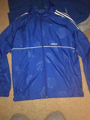Adidas windbreaker jacket with hoodie for Sale in Austin, TX