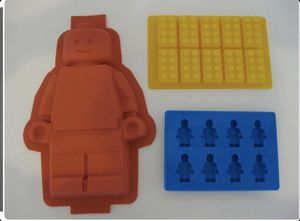 Lego Brick and Minifigure Cake Candy Chocolate Mold Set for Sale in Riverside, CA