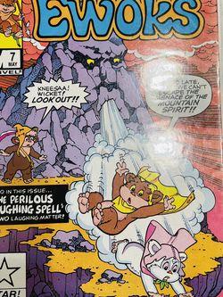 RARE VINTAGE 1986 MARVEL Collectors Star Wars EWOKS #7 STAR COMICS Kneesa Wicket for Sale in Waco,  TX
