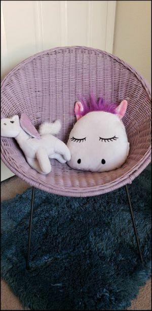 Girls Purple kids Wicker Round Chair!!!! BEAUTIFUL for Sale in Henderson, NV