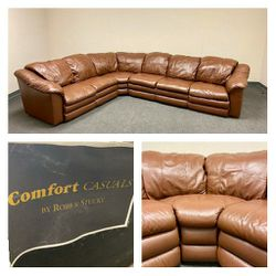 High Quality Leather Recliner Couch In Excellent Conditions!! for Sale in Richardson,  TX