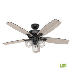 Highbury II 52 in. LED Indoor Matte Black Ceiling Fan with Light Kit byHunter for Sale in Buffalo Grove, IL