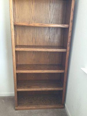 """6ft high 12""""deep 32 wide Oak bookshelves for Sale in Stockton, CA"""