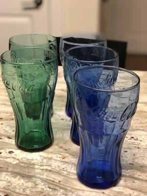Glass Coca Cola cups for Sale in Alexandria, VA