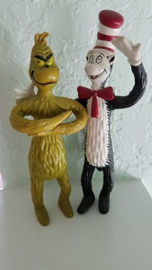 1999 Dr. Seuss Cat in the Hat & Grinch Collectible Bendy Toys for Sale in Wesley Chapel, FL