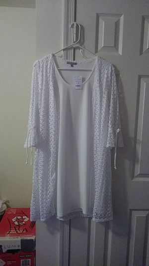 LADIES OFF WHITE LACE JACKET DRESS for Sale in Baltimore, MD