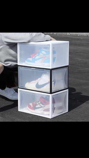 Shoe Storage box(magnetic side drop) for Sale in Ontario, CA