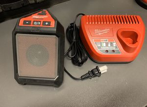 Milwaukee M12 Bluetooth Speaker and Charger Kit for Sale in Murrieta, CA