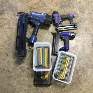 Pneumatic nail guns plus nails for Sale in Vancouver, WA