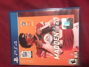 Madden 20. PS4 Game. Brand New Never been open for Sale in Tucson, AZ