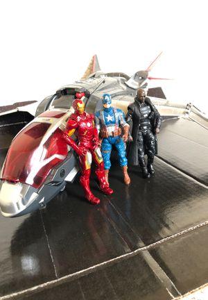 Marvel Avengers S.H.I.E.L.D QUINJET, Captain America, Iron Man & Nick Furry (RARE!!!) for Sale in Overland Park, KS
