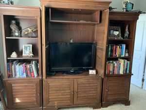 Entertainment Center with Bookshelves for Sale in Victorville, CA