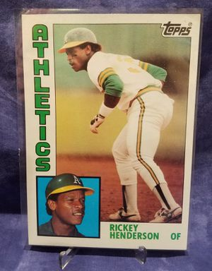1984 Topps Super Rickey Henderson #19 Baseball Card for Sale in City of Industry, CA