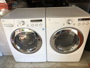 LG Washer & Gas Dryer front load heavy duty working great in excellent condition like new super clean. Stainless steel Drum. Model Number for WM2301 for Sale in La Mesa, CA