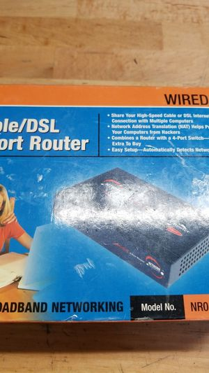 Cable/Dsl 4 port router for Sale in Orlando, FL