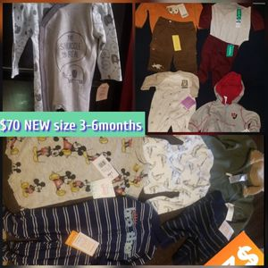 All New W Tags Baby Clothes size 3-6months for Sale in Maywood, CA
