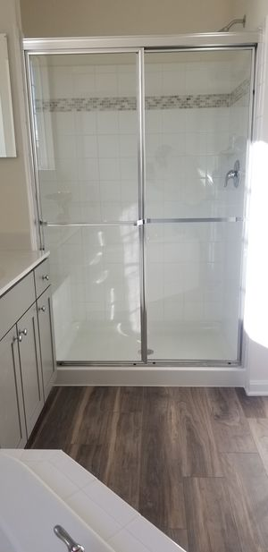 46wide by 68 high slide shower installation included for Sale in Seaford, DE