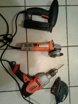 4 inch grinder, Drill gun, nail gun, palm sander for Sale in Staten Island, NY