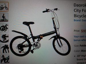 Daoro...20 inch 7 Speed Folding Bike-85.00 for Sale in Gardena, CA
