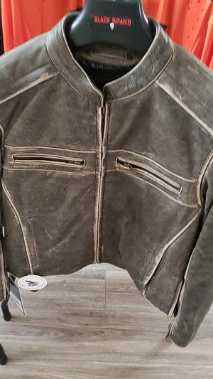 Black Brand Vintage Rebel Mens Motorcycle Jacket Size Large for Sale in Murrieta, CA