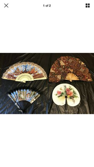 VINTAGE LOT OF 4 Antique Lace Carved Hand Fans PARIS PISA ITALY REPUBLIC CHINA+ for Sale in Fort Lauderdale, FL