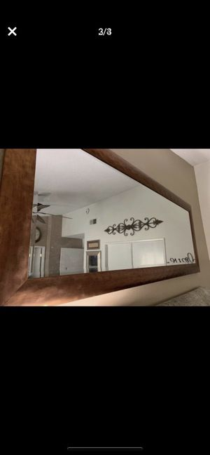 Large Beveled Mirror Metal/Brass Frame HUGE $105.00 for Sale in Chino, CA