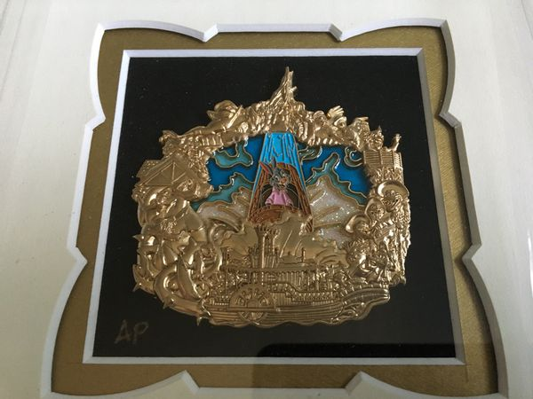 Disney D23 Framed AP Pin WDI Splash Mountain