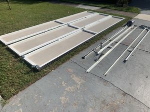 16x7 garage screen doors with opener + everything needed to install for Sale in Orlando, FL