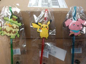 Pokemon Detective Pikachu Slurpee Straws for Sale in Bloomington, CA